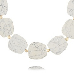 Pilgrim - White semi-precious stone necklace