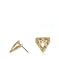 Pilgrim - Gold plated chevron earrings