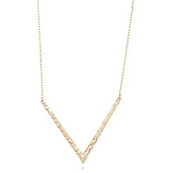 Pilgrim - Gold plated chevron necklace