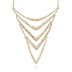 Pilgrim - Gold plated multi chevron necklace
