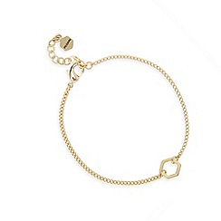 Pilgrim - Gold plated hexagon bracelet
