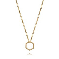 Pilgrim - Gold plated hexagon necklace