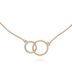 Pilgrim - Gold plated pave circle link necklace