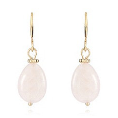 Pilgrim - Gold plated semi precious drop earrings