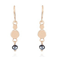 Pilgrim - Gold plated disc and bead drop earrings