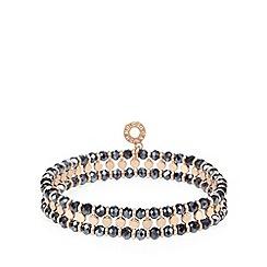 Pilgrim - Blue disc and bead stretch bracelet