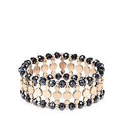 Pilgrim - Gold plated elasticated chunky beaded bracelet