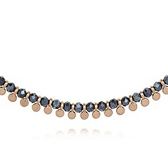 Pilgrim - Navy beaded necklace