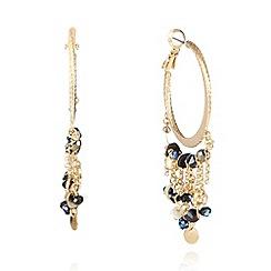 Pilgrim - Gold plated hoop charm earrings