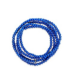 Pilgrim - Navy multi beaded necklace