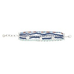 Pilgrim - Silver plated beaded bracelet