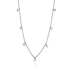 Ingenious - Silver necklace with hanging cubic zirconia stones