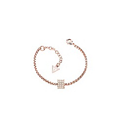 Guess - Rose gold round stone set bracelet
