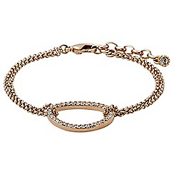 Pilgrim - Rose gold plated and crystal bracelet