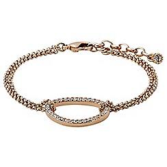 Pilgrim - Rose gold plated and crystal bracelet