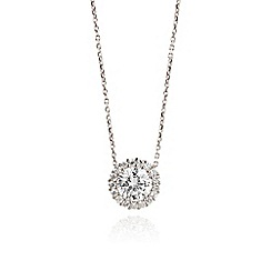Ingenious - Silver necklace with cubic zirconia stones in a pave surround