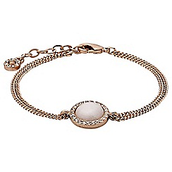Pilgrim - Rose gold plated and white bracelet