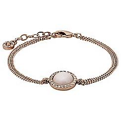 Pilgrim - Rose gold plated and white bracelet
