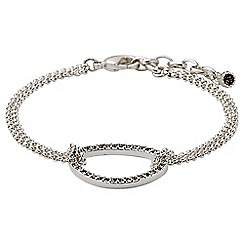 Pilgrim - Silver plated and grey bracelet