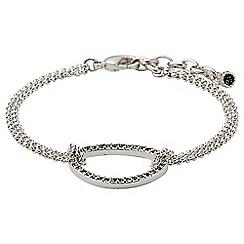 Pilgrim - Silver plated and grey bracelet