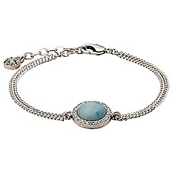 Pilgrim - Silver plated and mint bracelet