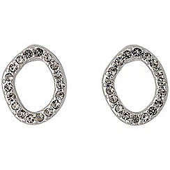 Pilgrim - Silver plated and grey earrings