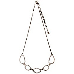 Pilgrim - Rose gold plated and crystal necklace