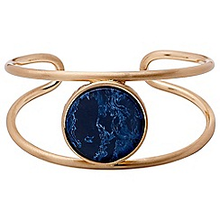 Pilgrim - Rose gold plated and blue bangle