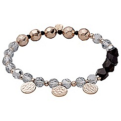 Pilgrim - Rose gold plated and grey bracelet