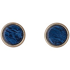 Pilgrim - Rose gold plated blue earrings