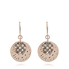 Pilgrim - Rose gold plated crystal earrings