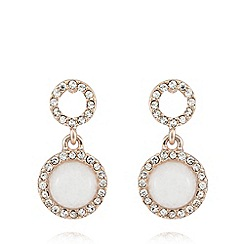 Pilgrim - White precious stones earrings