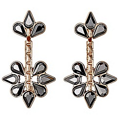 Pilgrim - Rose gold hematite 2 in 1 earrings