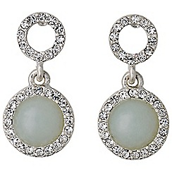 Pilgrim - Silver plated and mint earrings