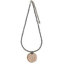 Pilgrim - Rose gold plated and grey necklace