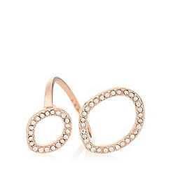 Pilgrim - Rose gold open pave ring