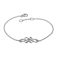 Heritage - Sterling silver celtic open trilogy with amethyst bracelet