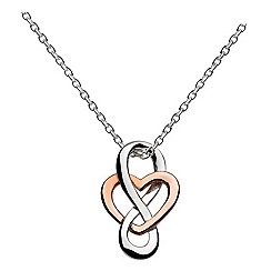 Heritage - Sterling silver and rose gold celtic looped heart necklace