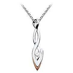 Heritage - Sterling silver and rose gold celtic organic twist necklace