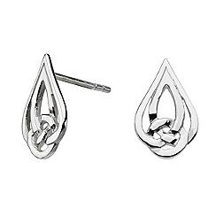 Heritage - Sterling silver celtic tear knot stud earrings