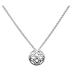 Heritage - Sterling silver celtic round domed knot necklace