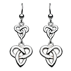 Heritage - Sterling silver celtic double trio knot earrings
