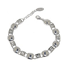 Finesse - Silver cubic zirconia cushion bracelet