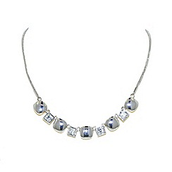 Finesse - Silver cubic zirconia cushion necklace