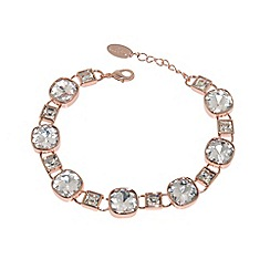 Finesse - Rose gold plated cubic zirconia cushion bracelet