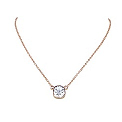 Finesse - Rose gold plated cushion pendant