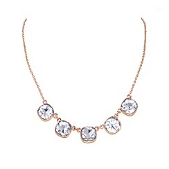 Finesse - Rose gold plated cubic zirconia necklace