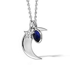 Missoma - Sterling silver moon charm necklace with pave star