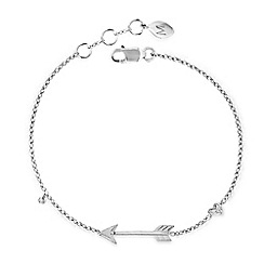 Missoma - Sterling silver arrow bracelet with diamond pave charm