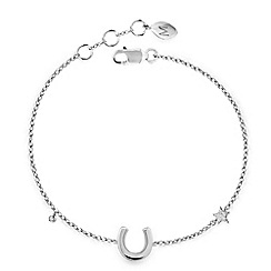 Missoma - Sterling silver horseshoe bracelet with diamond pave charm